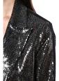 NetWork Kadın 1077374 Slim Fit Payetli Ceket Siyah